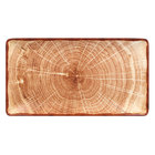 RAK Porcelain WDEDRG33TB Woodart 13 1/4 inch x 7 1/8 inch Timber Brown Porcelain Rectangular Serving Platter - 6/Case