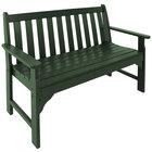 "POLYWOOD GNB48GR Green 48 1/2"" x 24"" Vineyard Bench"