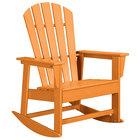 POLYWOOD SBR16TA Tangerine South Beach Rocking Chair