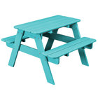 POLYWOOD KT130AR Aruba 30 inch x 33 inch Kids Picnic Table with Seating