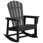 POLYWOOD SBR16BL Black South Beach Rocking Chair