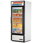 True GDM-26F-LD White Glass Door Merchandiser Freezer with LED Lighting - 26 Cu. Ft.
