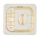 Cambro 60HPL150 H-Pan™ 1/6 Size Amber High Heat FlipLid
