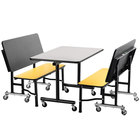 National Public Seating TGBTH2460PBTM 24 inch x 60 inch Mobile Booth with Particleboard Core and T-Molding Edge