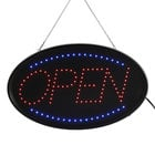 Choice 23 inch x 13 inch LED Oval Open Sign with Two Display Modes
