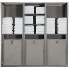 Grosfillex US174289 Sunset Platinum Gray Triple Unit Towel Valet