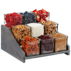 Cal-Mil 3831-83 Ashwood Gray Oak 9-Compartment Display for Jars - 13 1/4 inch x 12 1/2 inch x 6 1/2 inch