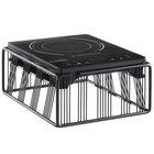 Cal-Mil 4100-13 Portland Black Countertop Induction Cooker - 120V, 1600W