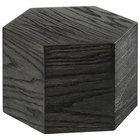 Cal-Mil 435-8-87 Cinderwood Hexagon Oak Wood Riser - 12 inch x 8 inch