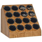Cal-Mil 3423-16-99 Madera Reclaimed Wood 16-Compartment Cylinder Holder - 19 3/4 inch x 18 1/2 inch x 18 1/2 inch