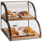 Cal-Mil 3931-84 Sierra 2-Tier Attendant Style Display Case - 22 inch x 19 inch x 18 1/2 inch