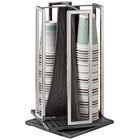 Cal-Mil 3803-87 Cinderwood Revolving Cup and Lid Organizer - 10 inch x 10 inch x 18 1/8 inch