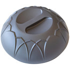 Dinex DX540044 Fenwick Graphite Grey Insulated Meal Delivery Dome for 9 inch Plate - 12/Case