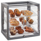 Cal-Mil 3838-83 Ashwood Gray Oak 3-Tray Acrylic Display Case - 20 inch x 14 3/4 inch x 20 1/2 inch