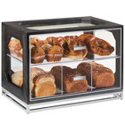 Cal-Mil 3820-87 Cinderwood Four Compartment Oak Wood Bread Case - 20 inch x 13 1/2 inch x 15 inch