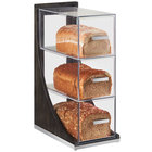 Cal-Mil 3815-87 Cinderwood Three Tier Oak Wood Vertical Bread Case - 13 inch x 6 1/2 inch x 20 1/4 inch