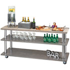 Cal-Mil 3698-4-83 Ashwood Gray Oak 3-Shelf U-Build Service Cart - 48 inch x 24 inch x 44 inch