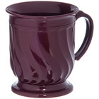 Dinex DX300061 Turnbury 8 oz. Cranberry Insulated Mug with Pedestal Base - 48/Case