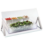 Cal-Mil 3478-4-39 Portable Glass Sneeze Guard - 48 inch x 9 inch x 18 inch