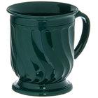 Dinex DX300008 Turnbury 8 oz. Hunter Green Insulated Mug with Pedestal Base - 48/Case