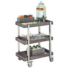 Cal-Mil 3834-83 Ashwood Gray Oak 3-Tier Beverage Cart - 31 inch x 20 1/4 inch x 39 1/4 inch