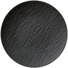 Villeroy & Boch 16-4074-2621 The Rock 11 1/4 inch Black Shale Coupe Flat Porcelain Plate - 6/Case