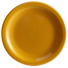 Syracuse China 903044909 Cantina 6 1/4 inch Saffron Uncarved Porcelain Plate - 12/Case