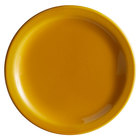 Syracuse China 903044910 Cantina 9 inch Saffron Uncarved Porcelain Plate - 12/Case