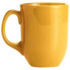 Syracuse China 903044904 Cantina 11 oz. Saffron Uncarved Porcelain Mug - 12/Case