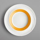 Schonwald 9181823-62991 Donna Senior 13 oz. White and Orange Porcelain Special Deep Rim Bowl - 6/Case
