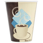 Dart Solo IC8-J7534 Duo Shield 8 oz. Poly Paper Hot Cup   - 1000/Case