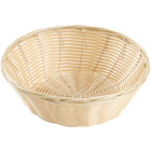 9 inch Round Natural-Colored Rattan Basket - 12 / Case