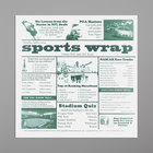 GET Enterprises 4-TG1080 White 12 inch x 12 inch Sports Newsprint Liner - 1000/Case