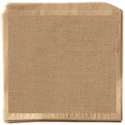 Get Enterprises P-BUR-77-BR 7 inch x 7 inch Burlap Double-Open Bag - 2000/Case
