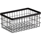 GET Enterprises WB-964-MG Urban Renewal 9 inch x 6 inch x 4 inch Metal Gray Rectangular Wire Basket