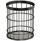 GET Enterprises WB-55-MG Urban Renewal 4 1/2 inch x 5 1/2 inch Metal Gray Round Wire Basket