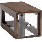 GET Enterprises Urban Renewal BB-SQ-7-GA Gray Ash 12 1/4 inch x 6 inch x 6 inch Stackable Square Bread Box
