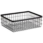 GET Enterprises WB-1294-MG Urban Renewal 12 inch x 9 inch x 4 inch Metal Gray Rectangular Wire Basket