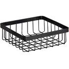 GET Enterprises WB-662-MG Urban Renewal 6 inch x 6 inch x 2 inch Metal Gray Square Wire Basket