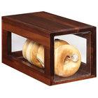 GET Enterprises Urban Renewal BB-SQ-7-W Walnut 12 1/4 inch x 6 inch x 6 inch Stackable Square Bread Box