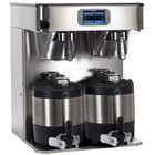 Bunn 53400.0100 ICB Twin Platinum Edition Infusion Series Black / Silver Twin Automatic Coffee Brewer - 120/240V, 6000W