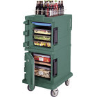 Cambro UPC600192 Granite Green Camcart Ultra Pan Carrier - Front Load