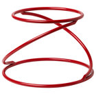 American Metalcraft LWUSR Contempo 7 1/8 inch Red Wrought Iron Swirl Display Stand