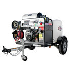 Simpson 95006 Trailer Pressure Washer with Vanguard Engine, 100' Hose, and 12V Battery Included - 4000 PSI; 4.0 GPM