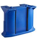 Cambro C10011 Navy Blue Versa Bar / Table Leg Kit with (1) Standard Height Leg / (2) Decor Panel Rails