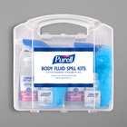 Purell&#174&#x3b; 3841-08-CLMS Body Fluid Spill Kit with Clamshell Case - 2/Case