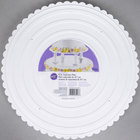 Wilton 302-18 Decorator Preferred Round Scalloped Edge Cake Separator Plate - 18 inch