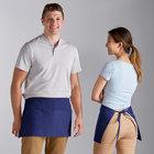 Choice Royal Blue Poly-Cotton Waist Apron with 3 Pockets - 12 inchL x 26 inchW