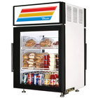 True GDM-5PT-LD White Pass-Through Countertop Display Refrigerator with Swing Door