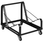 Flash Furniture XU-MC168-DOLLY-GG Hercules Black Steel Sled Base Stack Chair Dolly